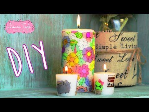 DIY / Haz Velas con Sharpies y servilletas - YouTube