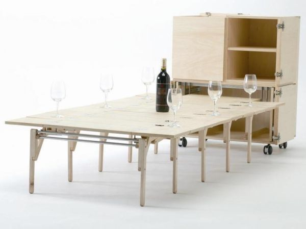 20 Bizarre Furniture Designs That Are GeniusThe expandable Mobile Dining unit.