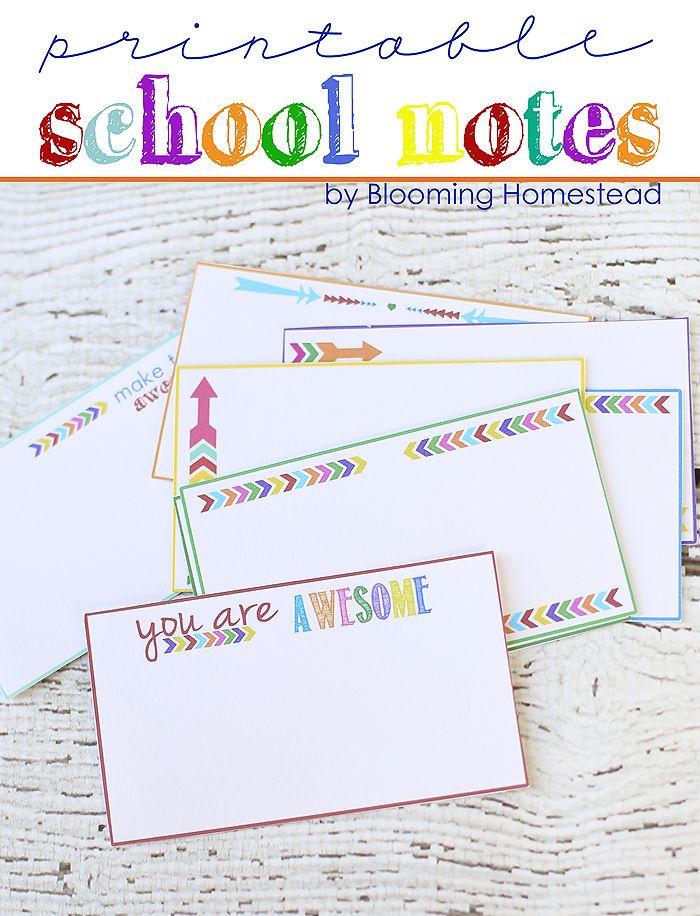Printable School Notes For Teachers Pinterest School, School
