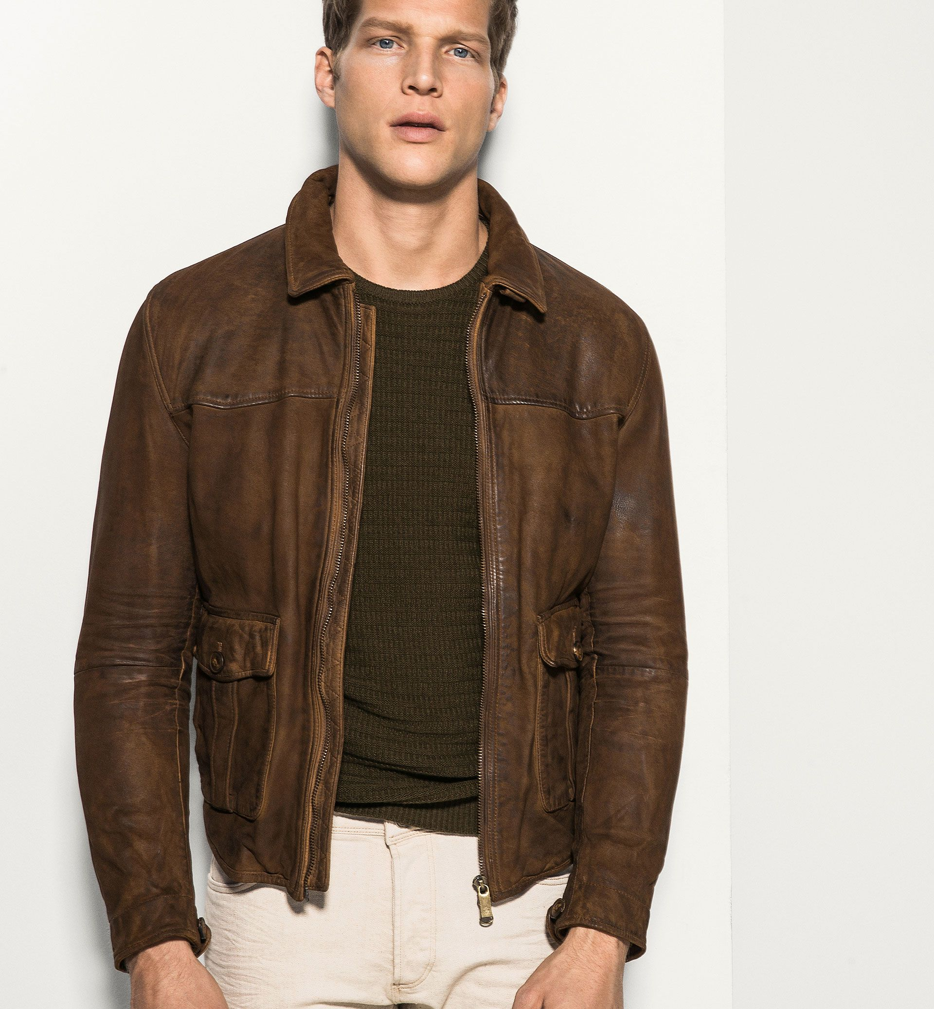 542c435e0 VINTAGE NAPPA LEATHER JACKET | my massimo dutti in 2019 | Leather ...