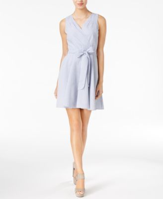Maison Jules Fit Flare Wrap Dress Only At Macy S Macys Com
