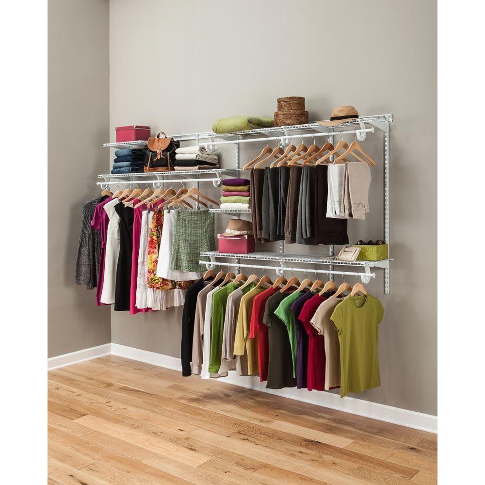 ClosetMaid ShelfTrack 5 8 Ft. Closet Organizer Kit
