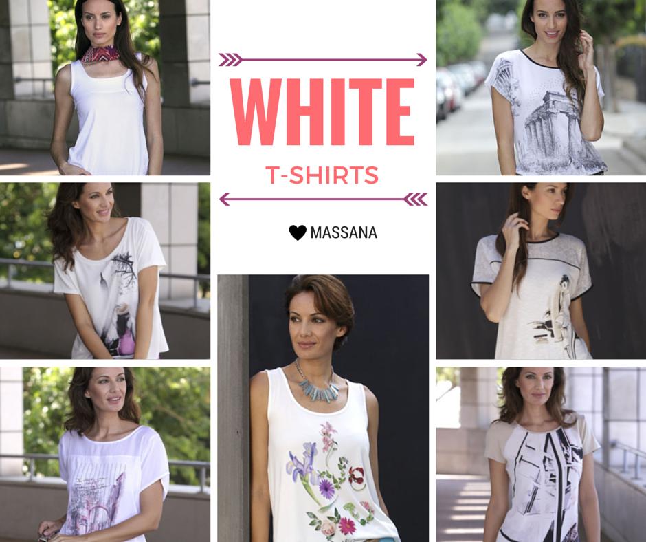 White T-shirt by #MASSANA #White #MassanaHomewear #Tshirt #Summer #Spring #MassanaOutwear