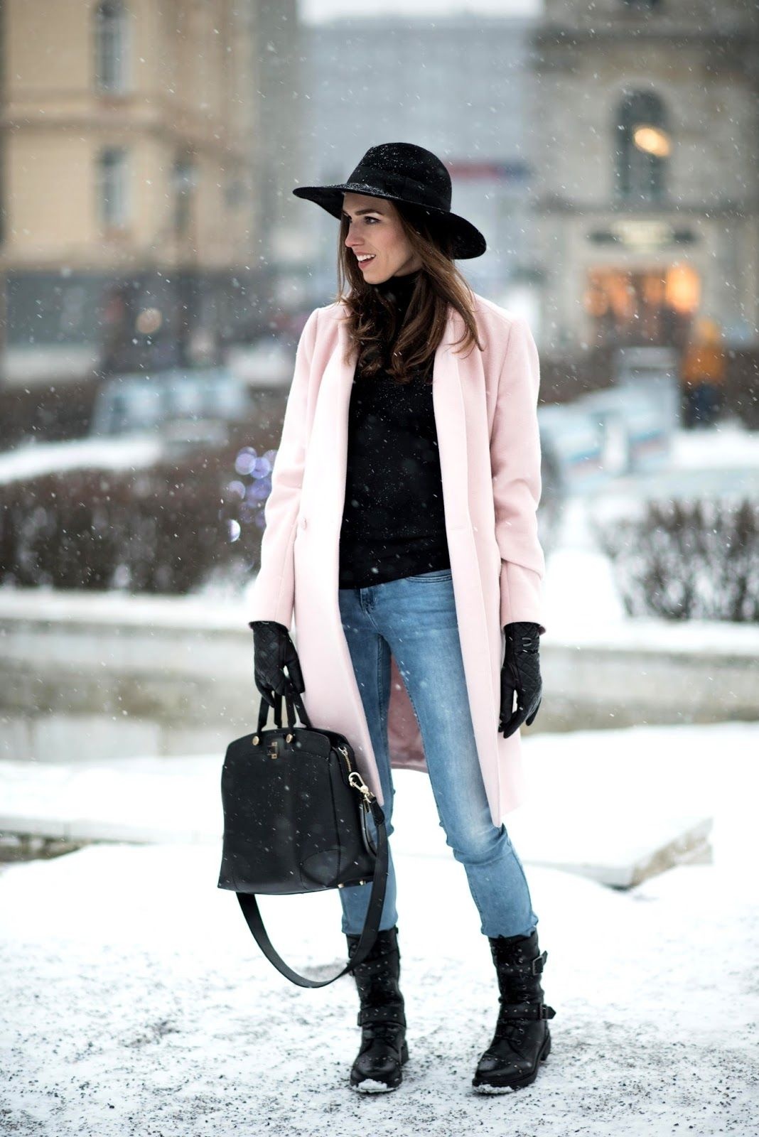 Winter Fedora Hat Outfit Winter Outfits Women Street Style Outfits Winter Classy Winter Outfits