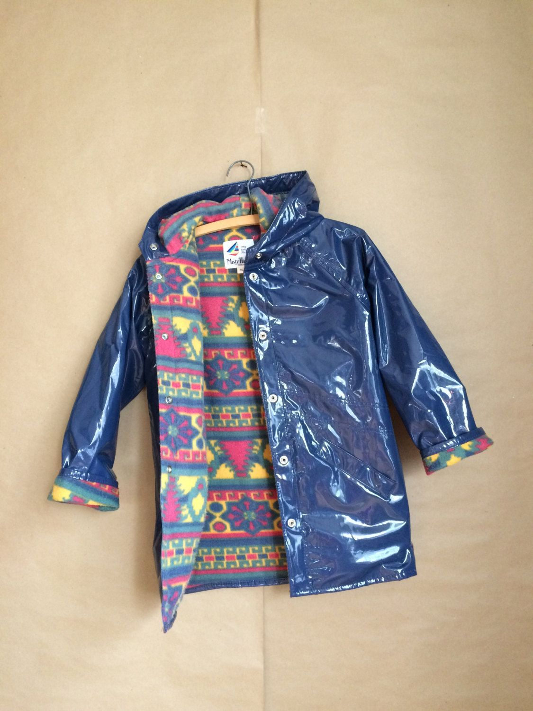 Vintage 80 S 90 S Childrens Raincoat Rain Jacket Etsy Childrens Rain Coats Raincoat Kids Raincoat Outfit