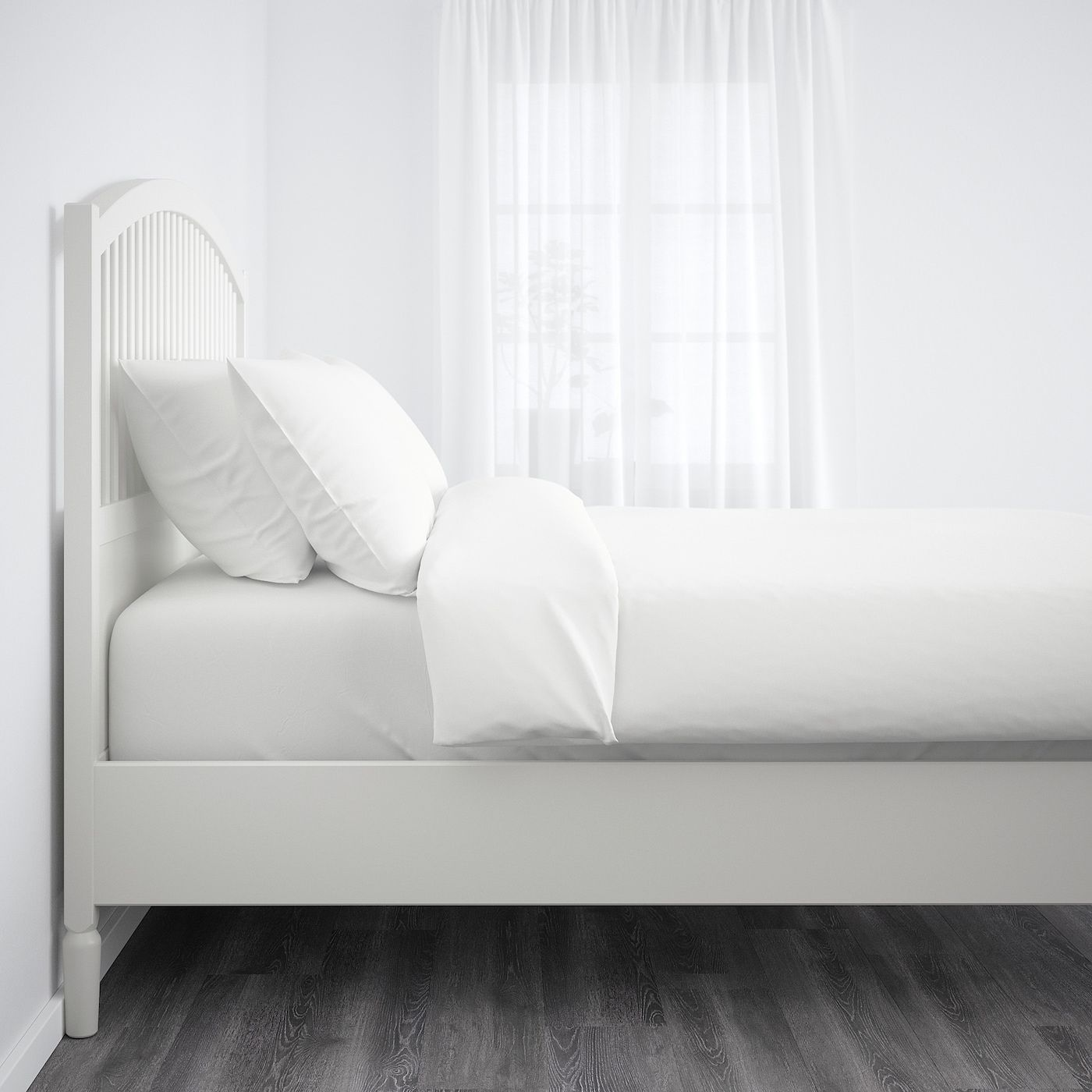 Tyssedal Bettgestell Weiss Ikea Osterreich In 2020 Bed Frame White Bed Frame Ikea Tyssedal