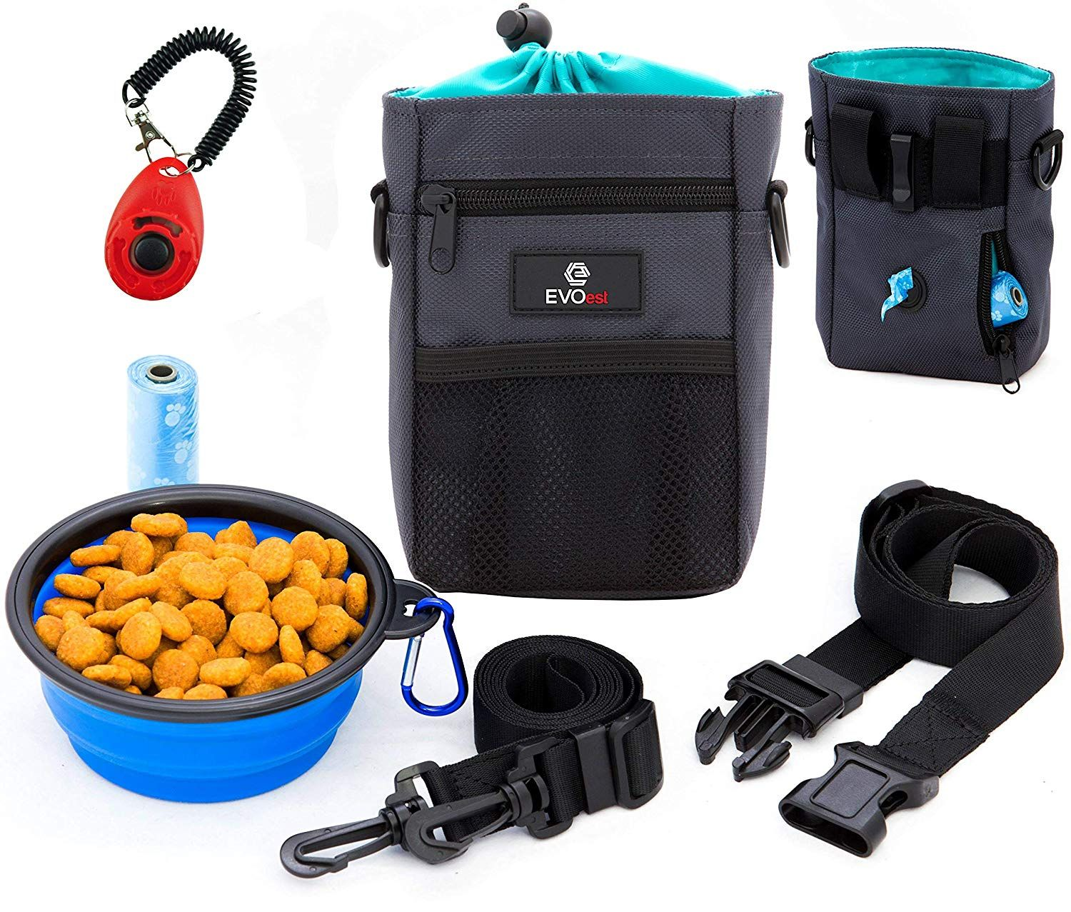 Evoest Dog Treat Pouch Training Bag With Dog Training Clicker And