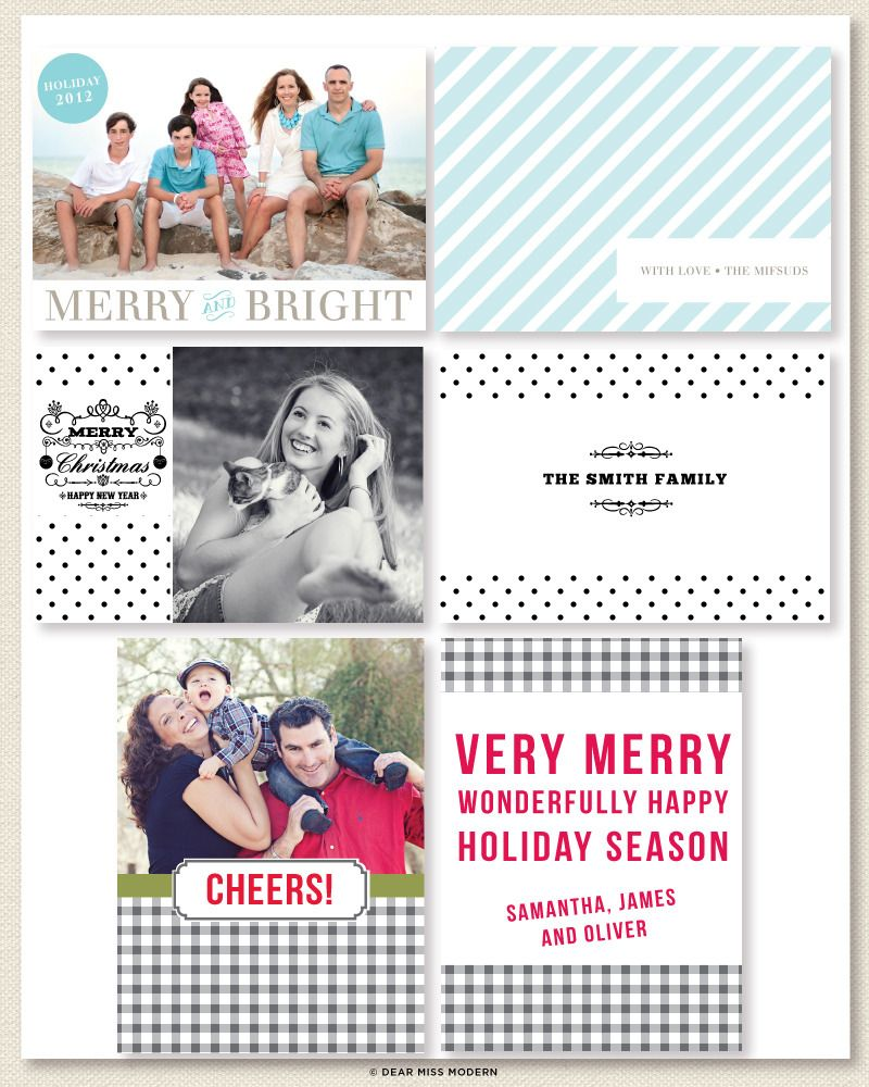 Savvy Holiday | set of 3 cards by Dear Miss Modern