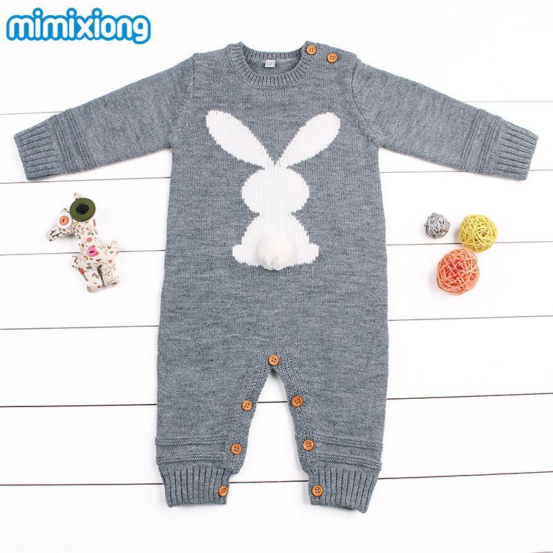 b2b871dfe Baby Girl Bodysuits Winter Warm Newborn Boys One-Piece Jumpsuits Cute Rabbit  Knit Long Sleeve Body Suits With Legs Sunsuit 0-24M //Price: $24.44 // ##  ...
