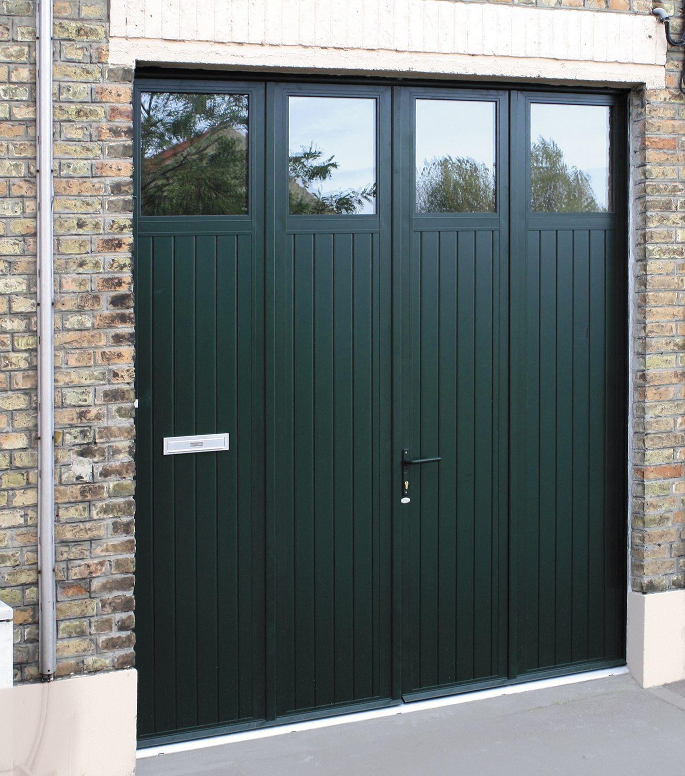 Gamme Portes Battantes Modele Luxembourg 4 Vantaux Option Decoupe Boite Aux Lettres Porte Garage Portes De Garage Moderne Idee Garage