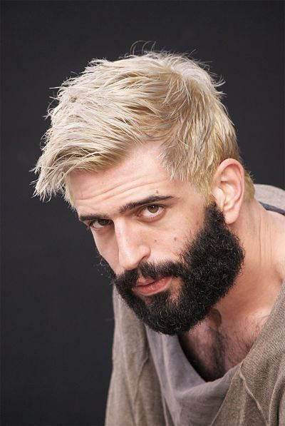 Platinum Hair With Dark Beard Google Search Bleached Hair