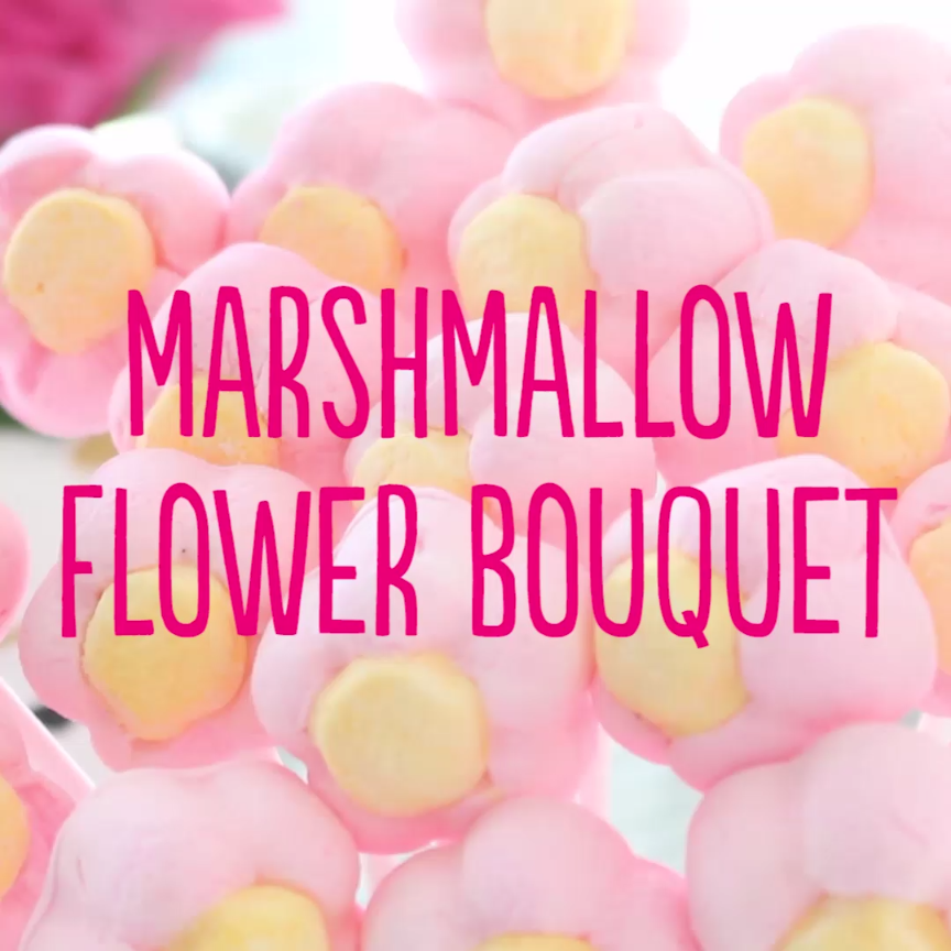 Marshmallow Flower Bouquet | Recipe | Pinterest | Marshmallow ...