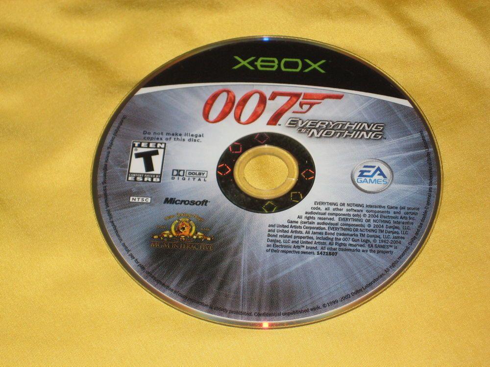 James Bond 007 Everything Or Nothing Original Xbox Video Game
