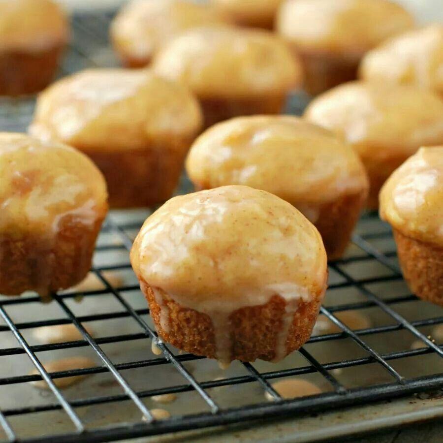 Mini eggnog muffins