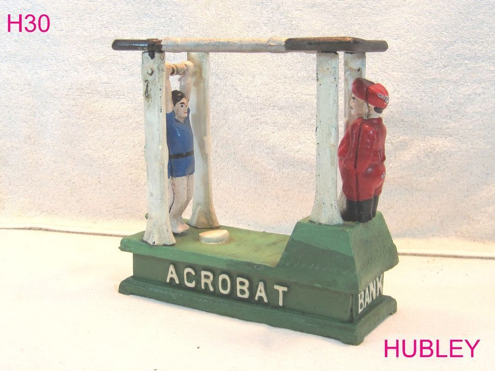 VINTAGE CAST IRON ACROBAT BANK HUBLEY MANUFACTURING COMPANY RARE PIECE UNIQUE #Hubley!!!!  REALLY COOL ITEM!!!!  ON AUCTION THIS WEEK!!!!!