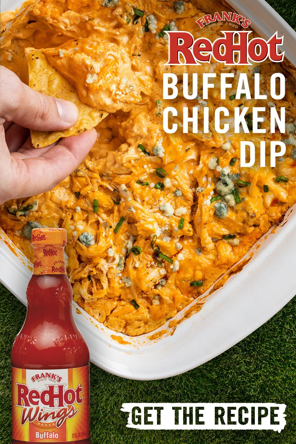 Frank S Redhot Buffalo Chicken Dip Recipe With Images Party Food Appetizers Recipes Easy Appetizer Recipes