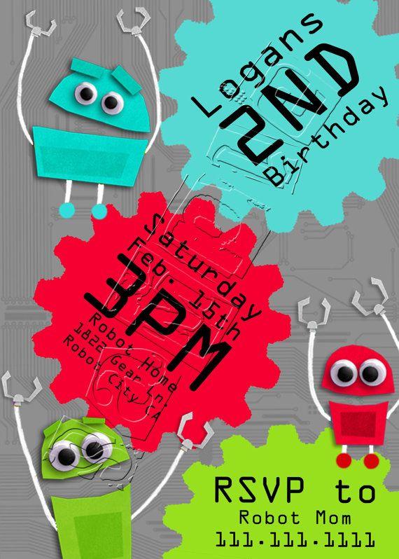 Robot Quot Storybots Quot Birthday Invitation On Etsy 15 00