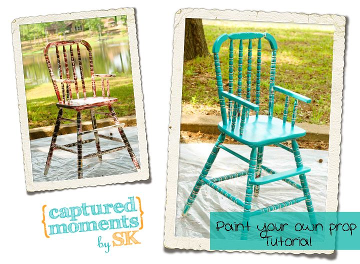 painted high chair  sc 1 st  Pinterest & Painting Props-High Chair u0026 Newborn Bed Tutorial | Painted high ...