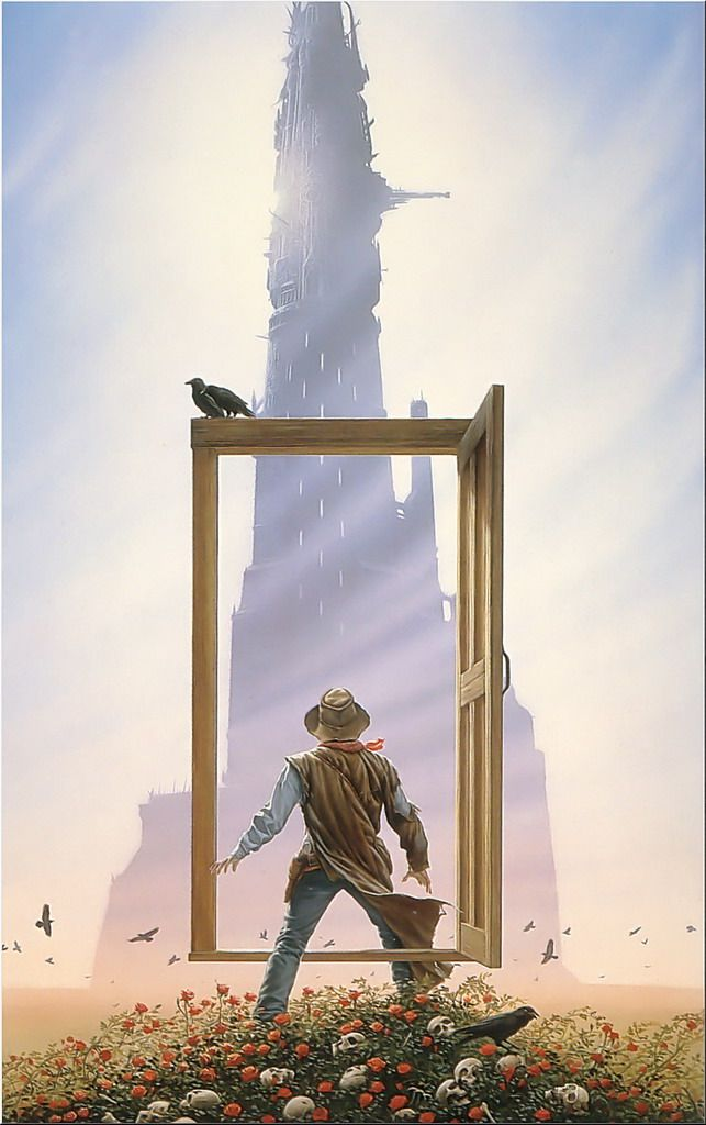 """When it comes to realistic fantasy and SF art, it's hard to top Michael Whalen-- here's one of his paintings for Stephen King's """"Dark Tower"""" series."""