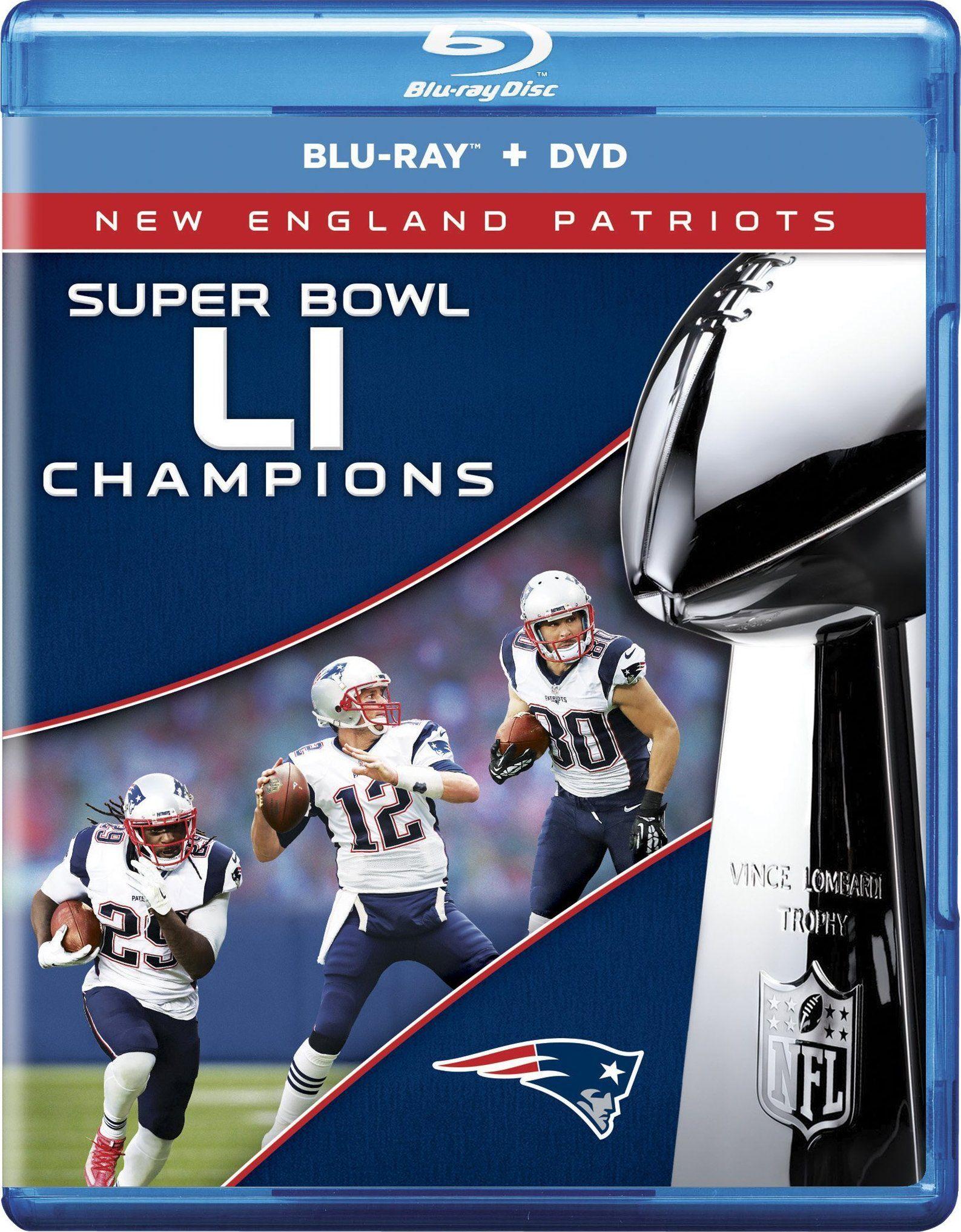 Nfl Super Bowl Li Champions 2017 Blu Ray Super Bowl Li Super Bowl New England Patriots