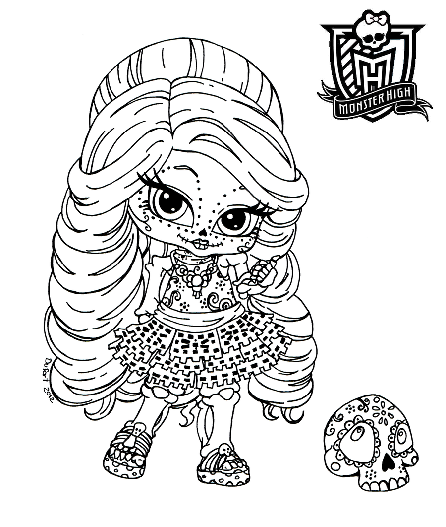halloween monster high coloring pages - photo#27