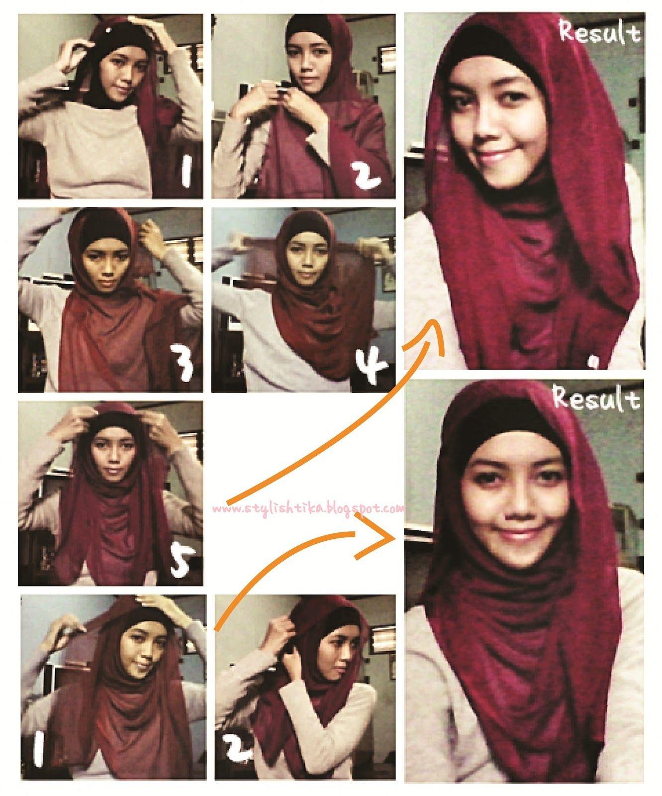 Tutorial Hijab Segi Empat Untuk Wajah Bulat Wajah Bulat Hijab