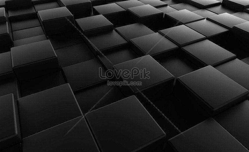Block Background Background Material Abstract Black Geometric Figure Stereoscopic 3d Noir Noir Mat