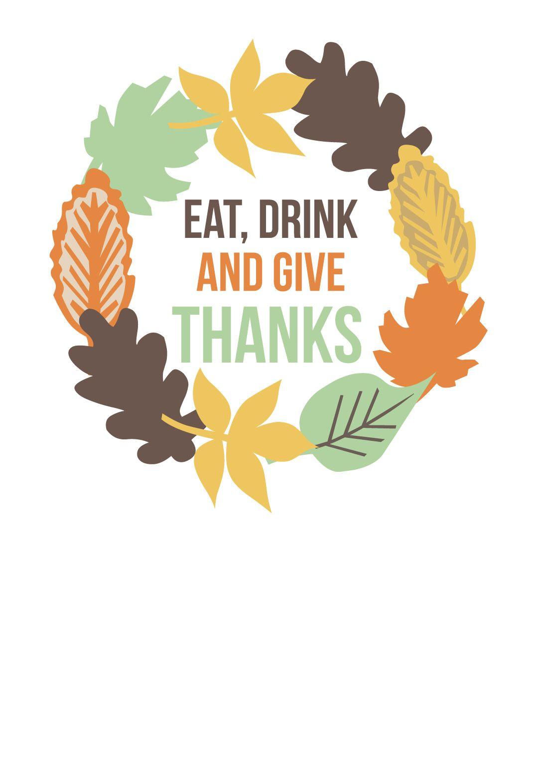Thanksgiving Wreath - Free Printable Thanksgiving Invitation ...