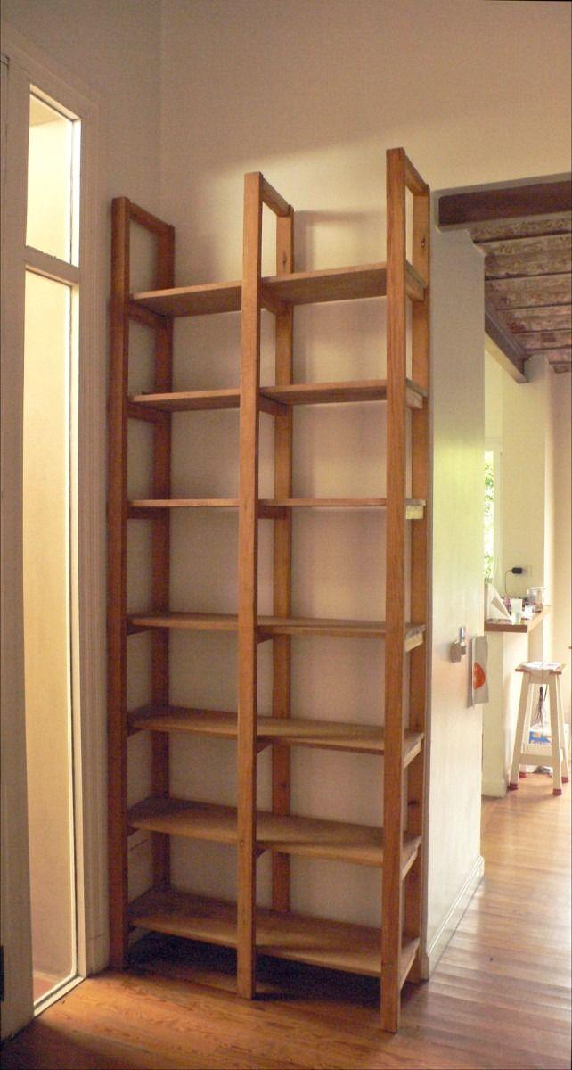 Muebles de madera bibliotecas y estanter as hechas a for Diseno de muebles con madera reciclada