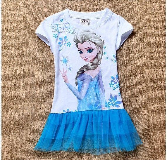shirt Shirt Top summer Frozen Anna Elsa girls children T