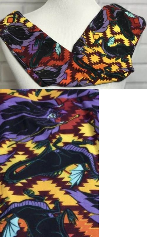 87af93dd42c10e Pants 175654: Lularoe Maleficent Dragon! Disney Villains Kids L Xl Leggings  Ultra Rare! Htf?? -> BUY IT NOW ONLY: $55 on eBay!