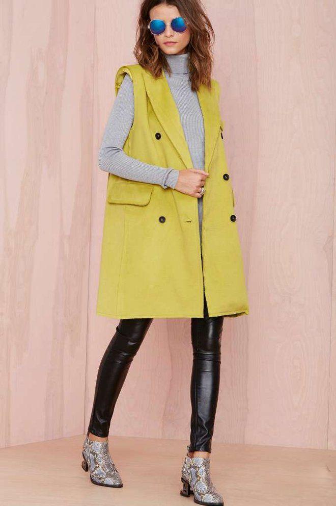Пальто без рукавов (137 фото): тенденции 2016, женское ...