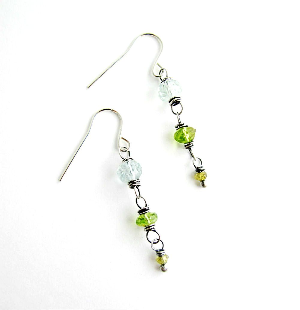 One-of-a-kind Bead & Wire Earrings - Sundays at Lake Tahoe Earrings ...