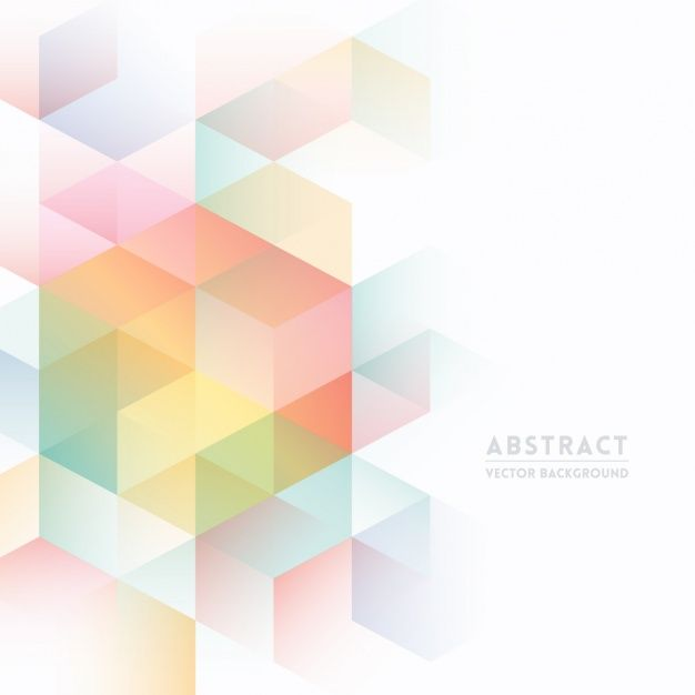 Colorful Abstract Background Free Vector In 2019 Isometric