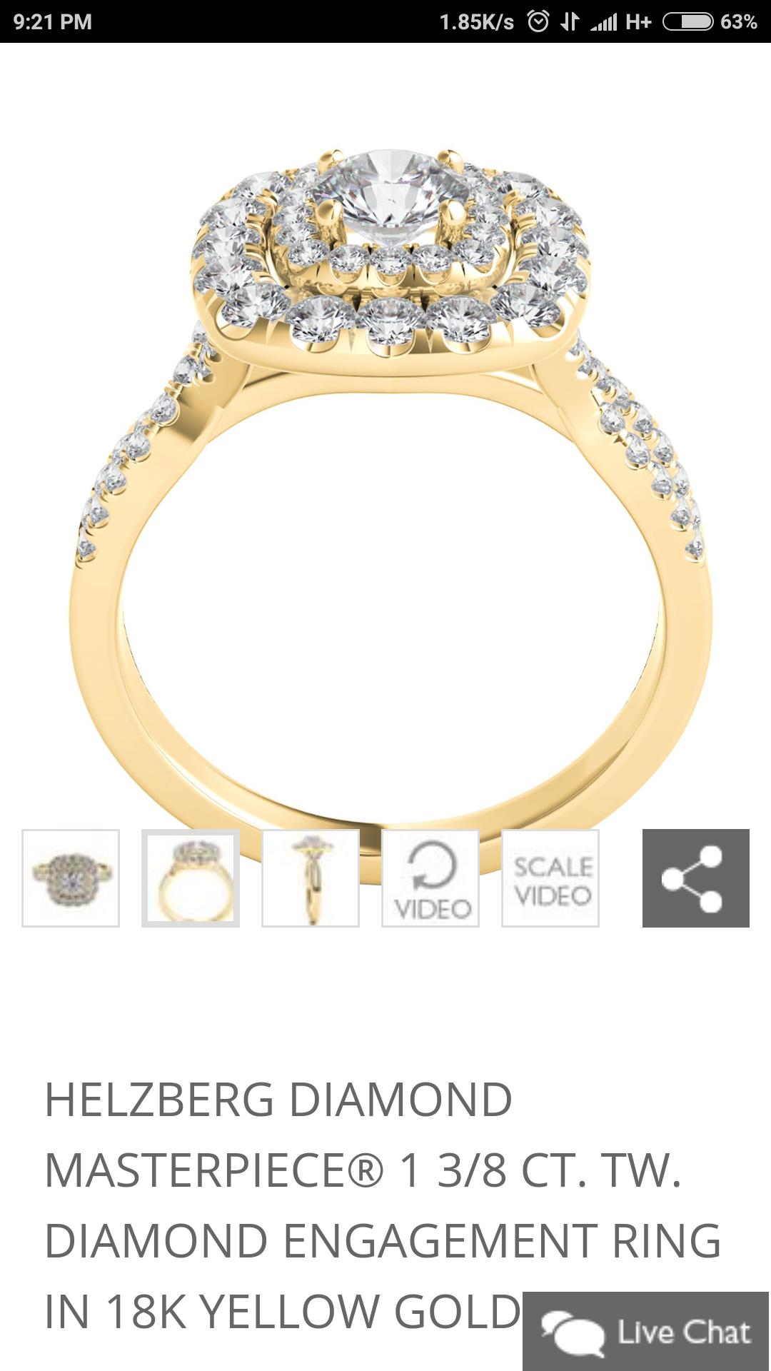 1.00ctw Helzberg Diamond Masterpiece Engagement Ring (GIA