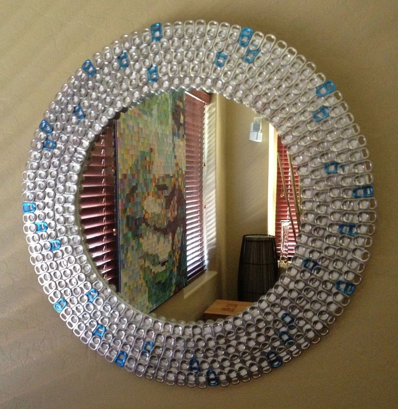 mirror made on a pop tabs how freakin cool is this