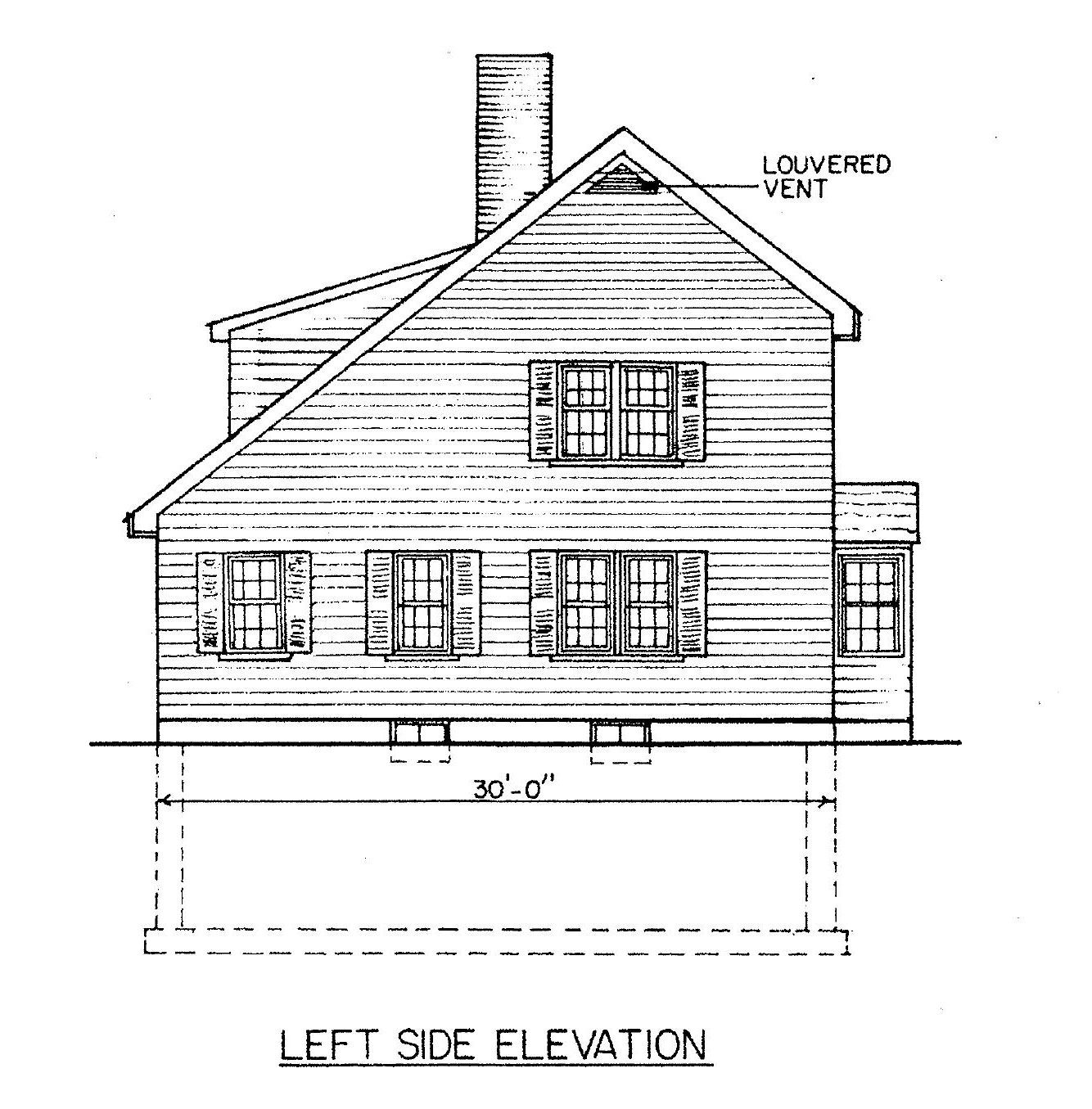 4 Bedroom Saltbox House Blueprint Saltbox Houses House Blueprints House Plans