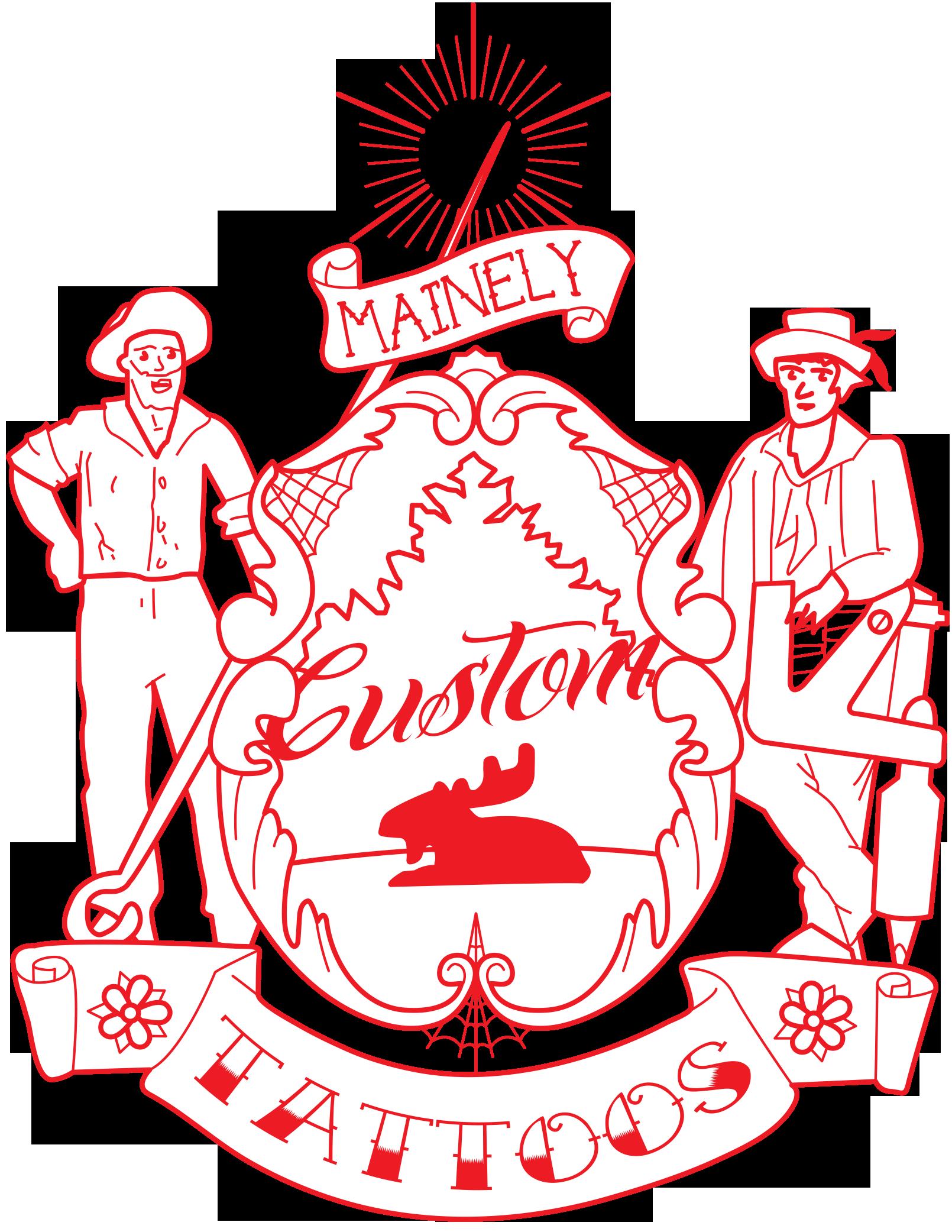 Mainely Custom Tattoos, Kittery Maine Logo Concept. http