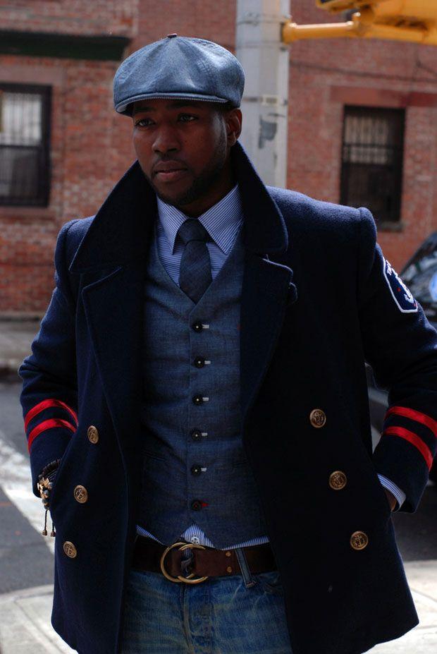 Men style - Navy Peacoat   hat  f60812af3