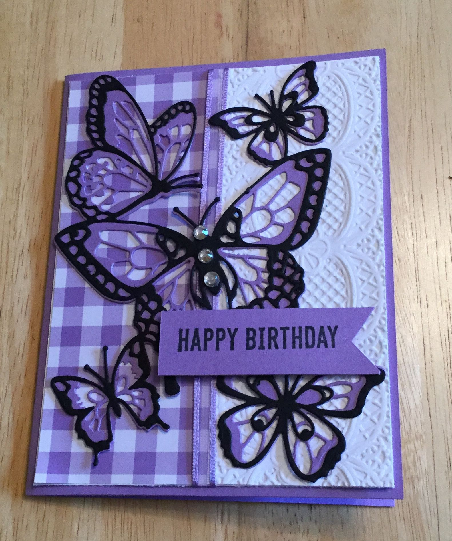 Butterfly Beauty Birthday Card Inspired By Mary Fish Butterfly Birthday Cards Stampin Up Birthday Cards Handmade Birthday Cards