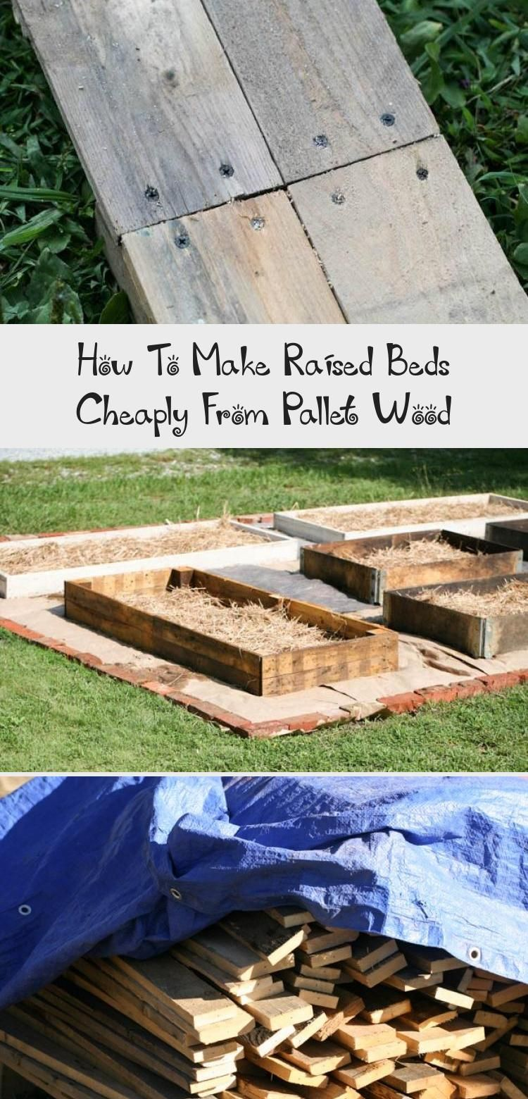 How To Make Raised Beds Cheaply From Pallet Wood Making