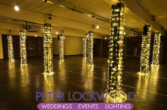 warm white fairy lights in the bays at victoria warehouse