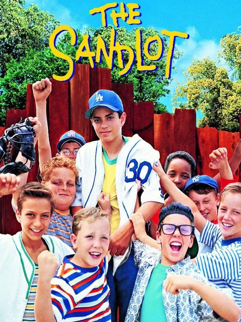 THE SANDLOT Movie Poster - Vintage Baseball Poster, Retro Baseball Poster, Classic Baseball Art, Sports Lover Wall Art