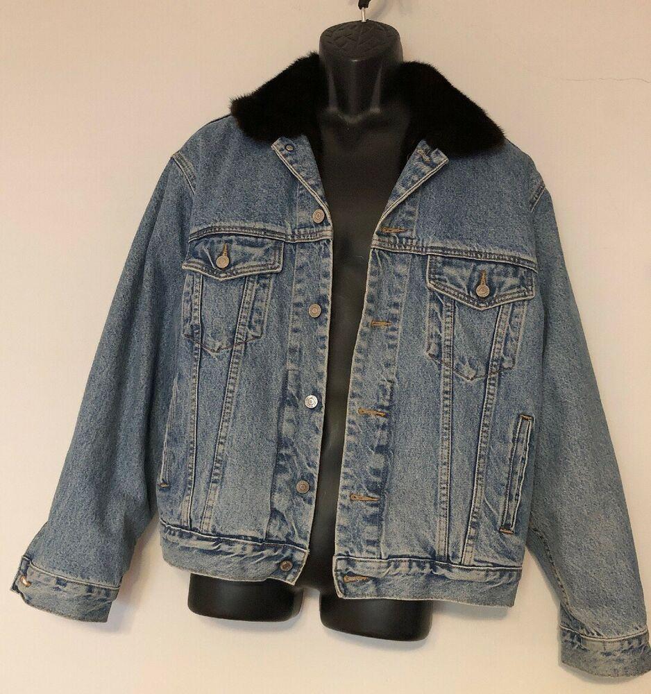 Gap Mens Jean Denim Trucker Jacket Faux Fur Lined Medium Flannel Sleeve Warm Gap Jeanjacket Lined Denim Jacket Sherpa Lined Denim Jacket Lined Flannel Shirt [ 1000 x 938 Pixel ]