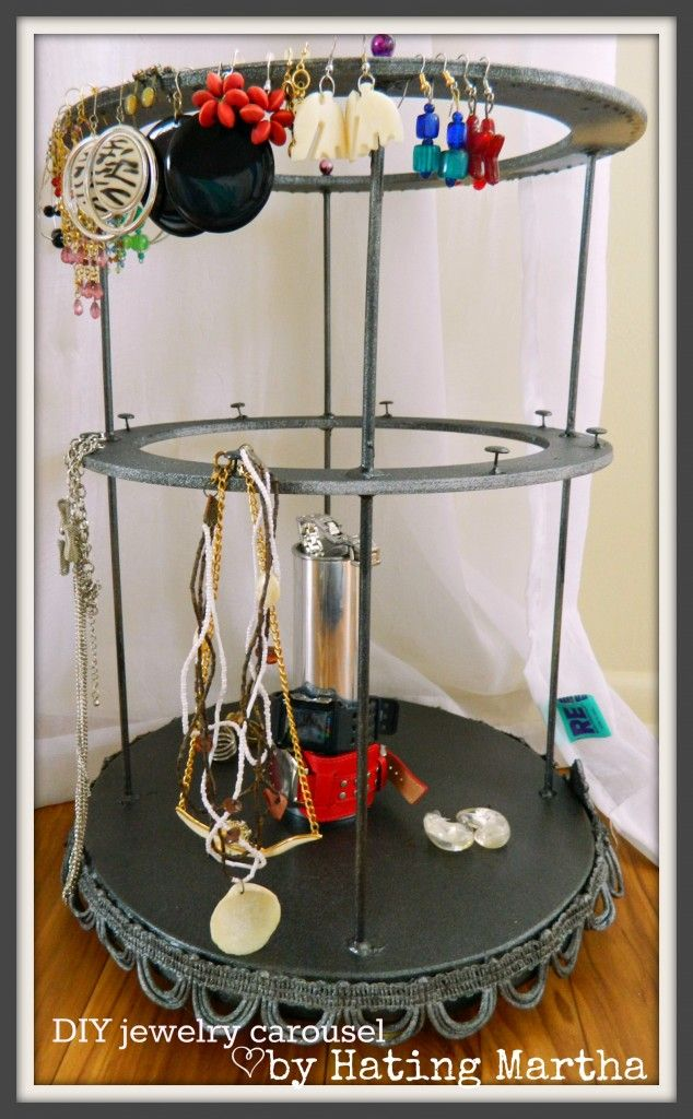DIY hair tool organizer Carousel Craft and Crafty