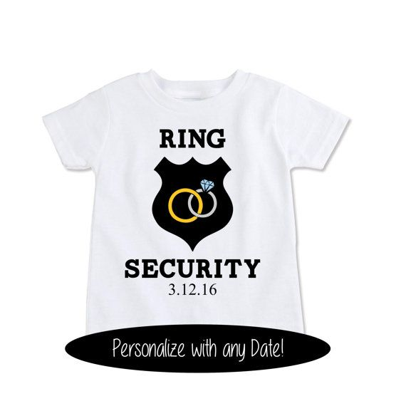 Custom Ring Bearer Gift T Shirt Personalized wedding by Exit17