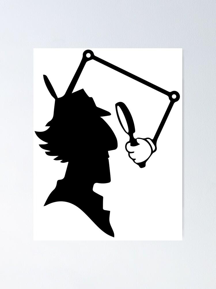 Poster Silhouette De L Inspecteur Gadget Par Imlying Redbubble Inspector Gadget Silhouette Art Cartoon