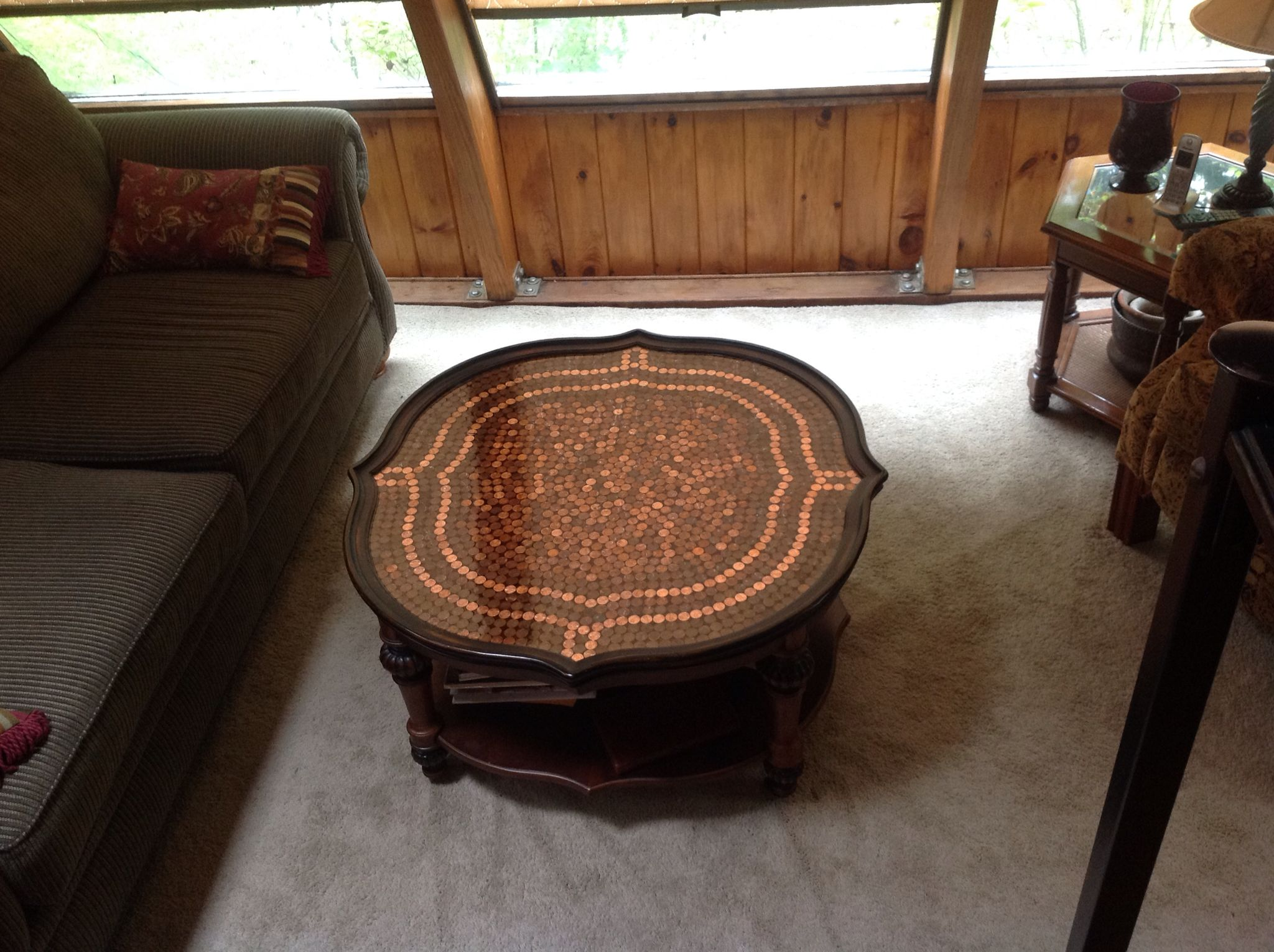 My Penny Coffee Table Finished With Crystal Clear Epoxy Penny