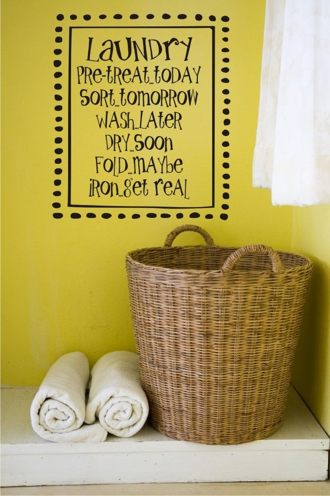 Laundry Decal - Laundry Room Wall Decal - Laundry Wall Decal ...