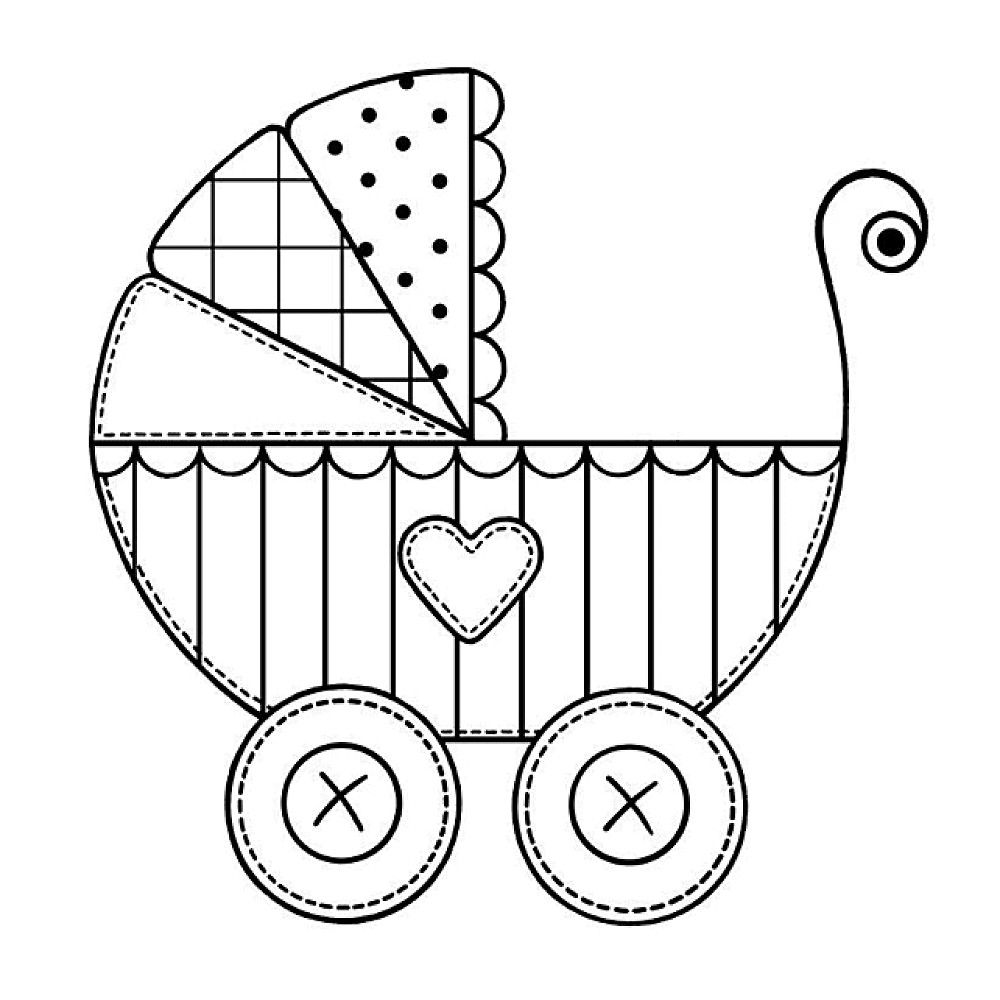 Beautiful Pattern For Stroller Cookie Sellos Digitales Dibujos